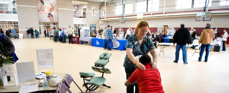 Hokie Wellness Heath and Benefits Fair for employees